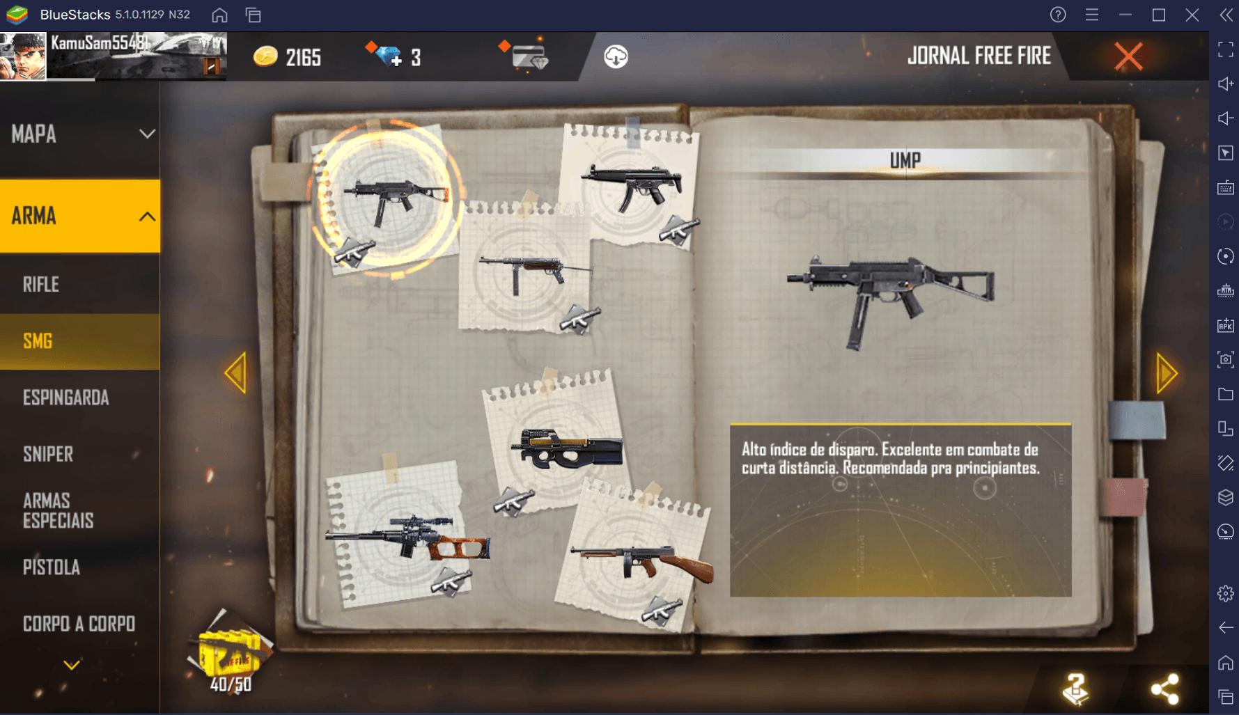 Conheça 10 armas para rushar em Free Fire e seja o MVP da próxima partida