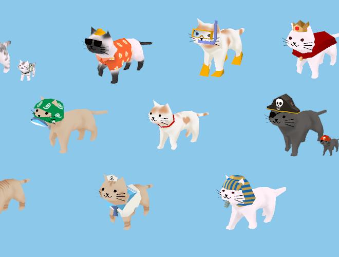 즐겨보세요 고양이와 상어: 귀여운 3D 방치 육성 게임 on PC 10