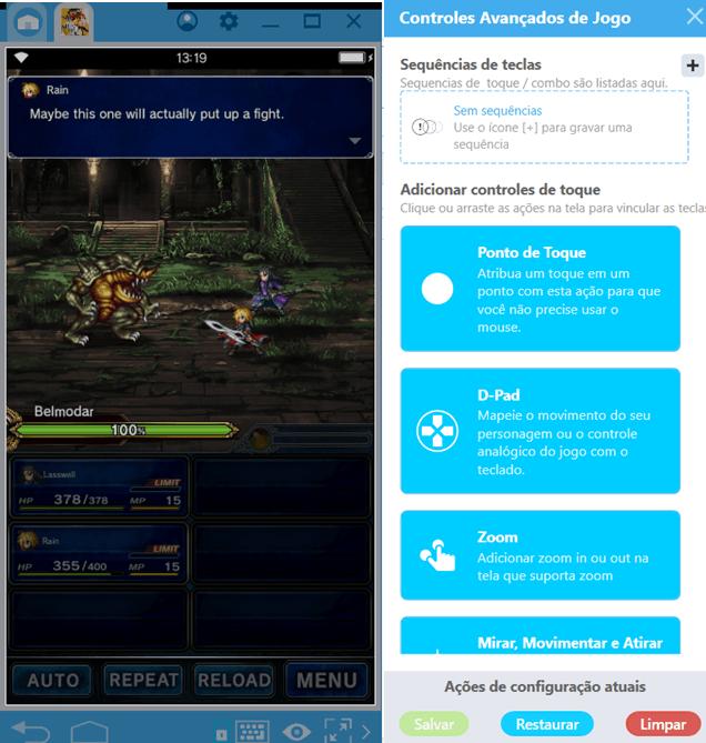 Final Fantasy Brave Exvius ganha um up com BlueStacks 4.2 e seu novo Combo Key.