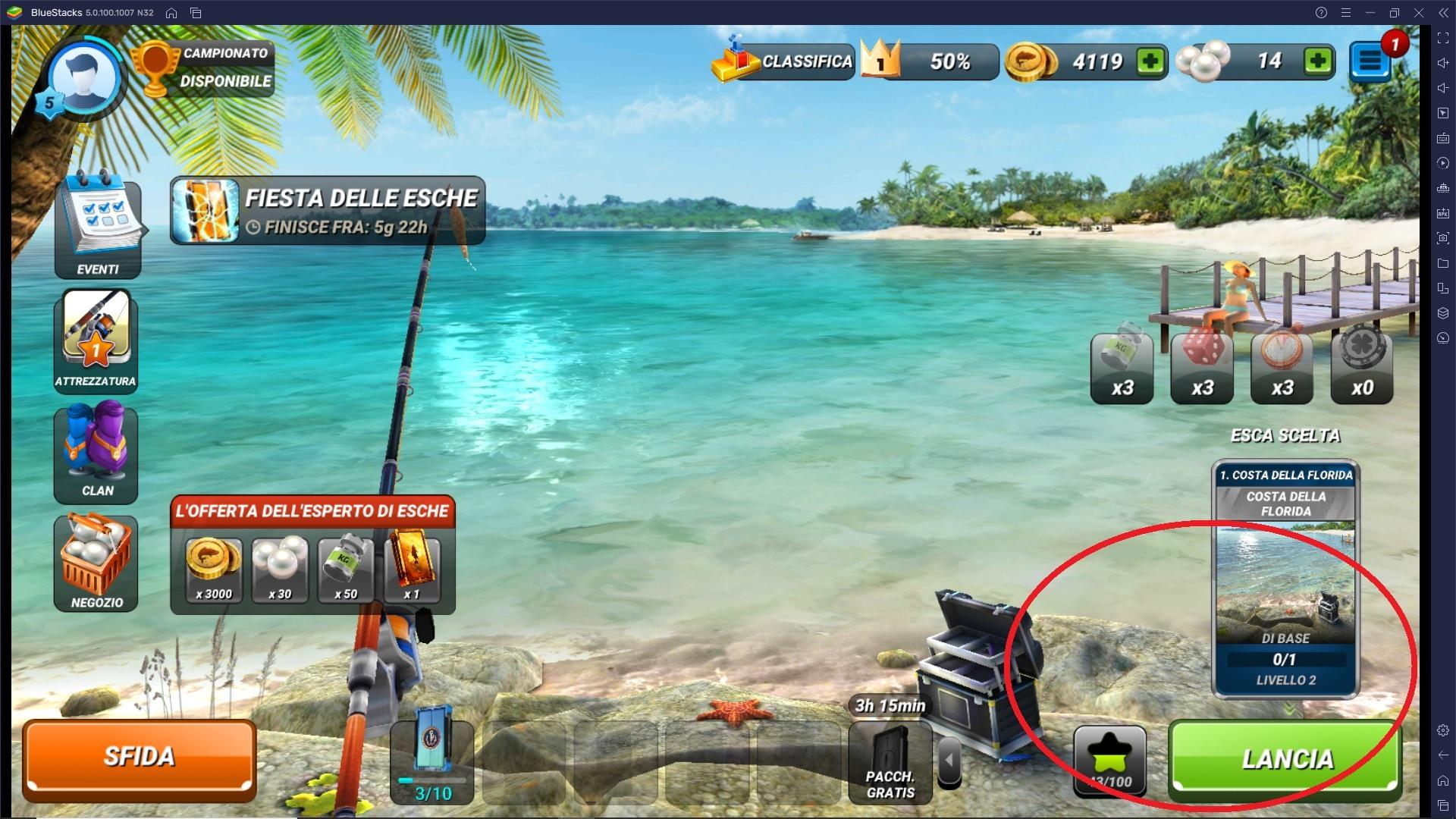 Come pescare in modo efficace in Fishing Clash