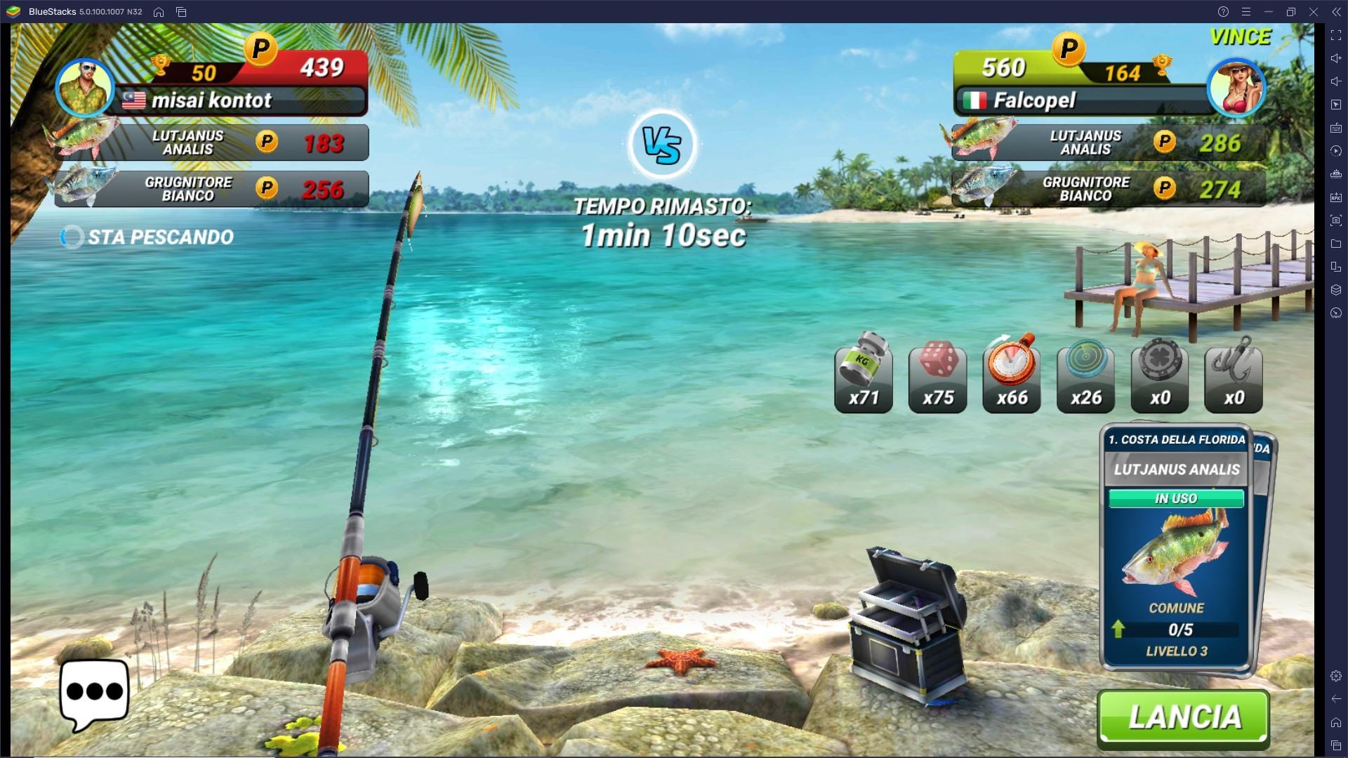 Ottieni punti XP e sblocca rapidamente nuove aree di pesca in Fishing Clash!