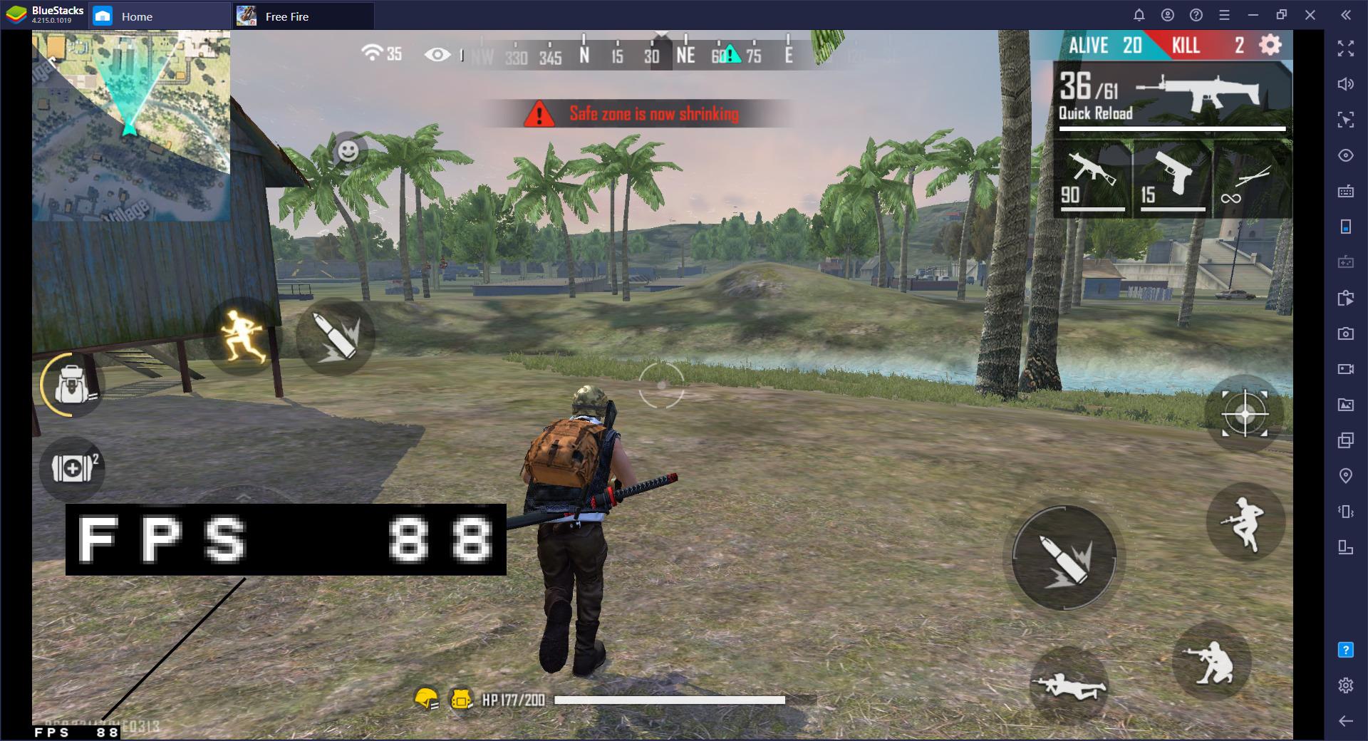 Nouvelle mise à jour pour jouer à Free Fire sur BlueStacks en 90 FPS