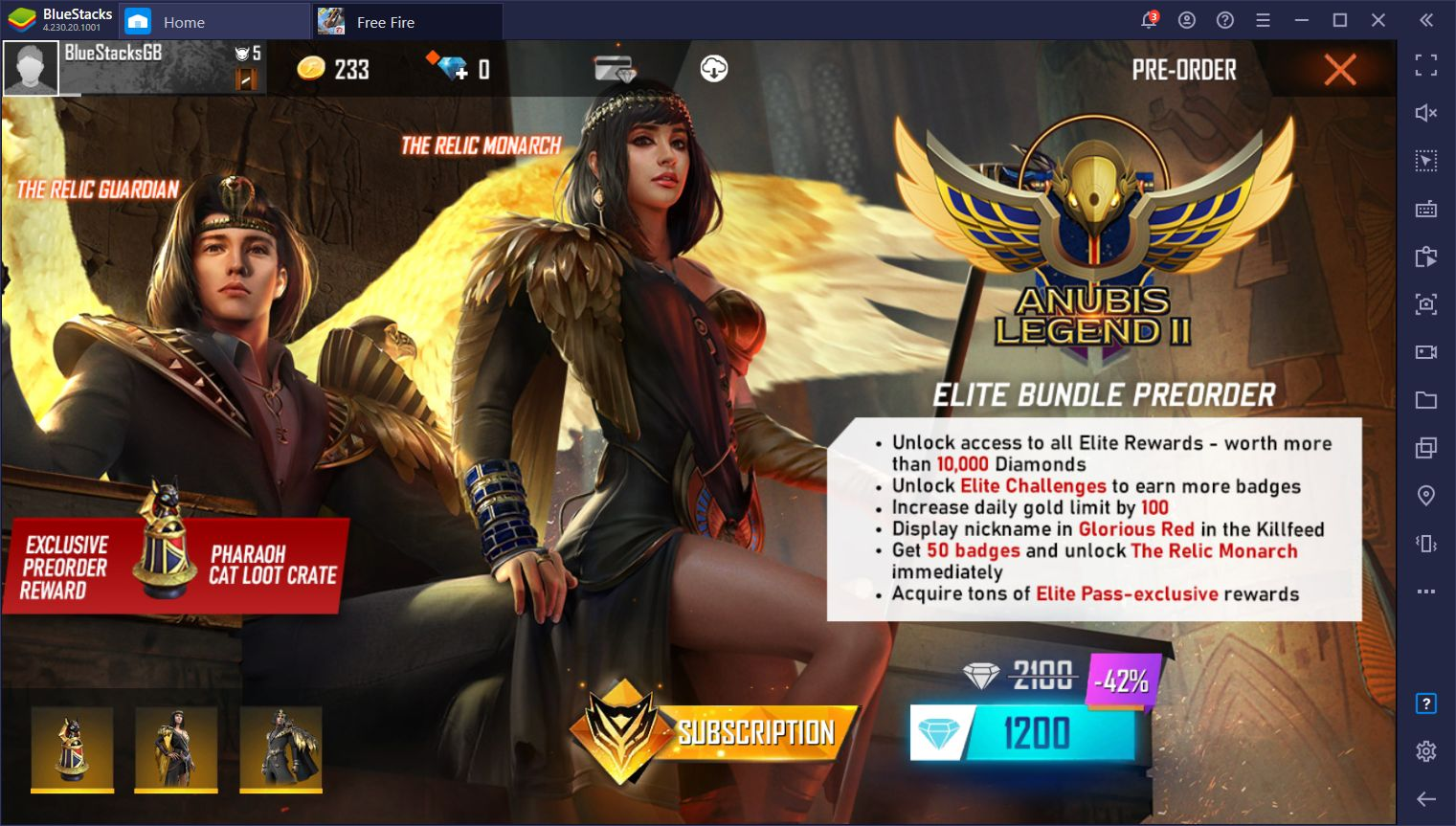 Free Fire 'Anubis Legend II' Elite Pass Brings Egyptian – Themed Rewards to the Popular Mobile Battle Royale