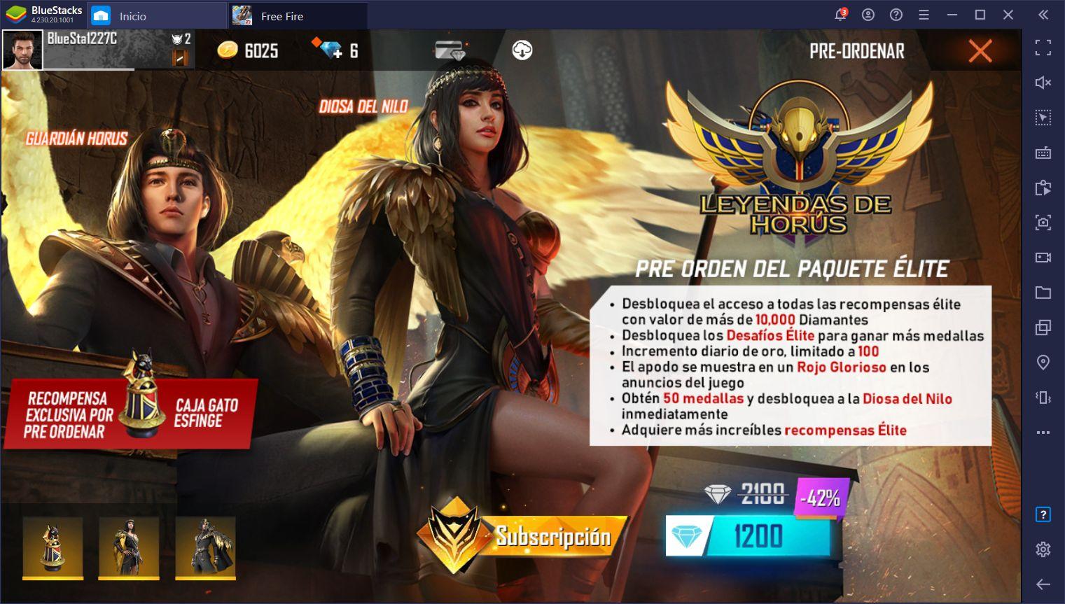 """El Pase Élite 'Leyendas de Horus"""" de Free Fire Trae Recompensas Egipcias al Popular Battle Royale"""