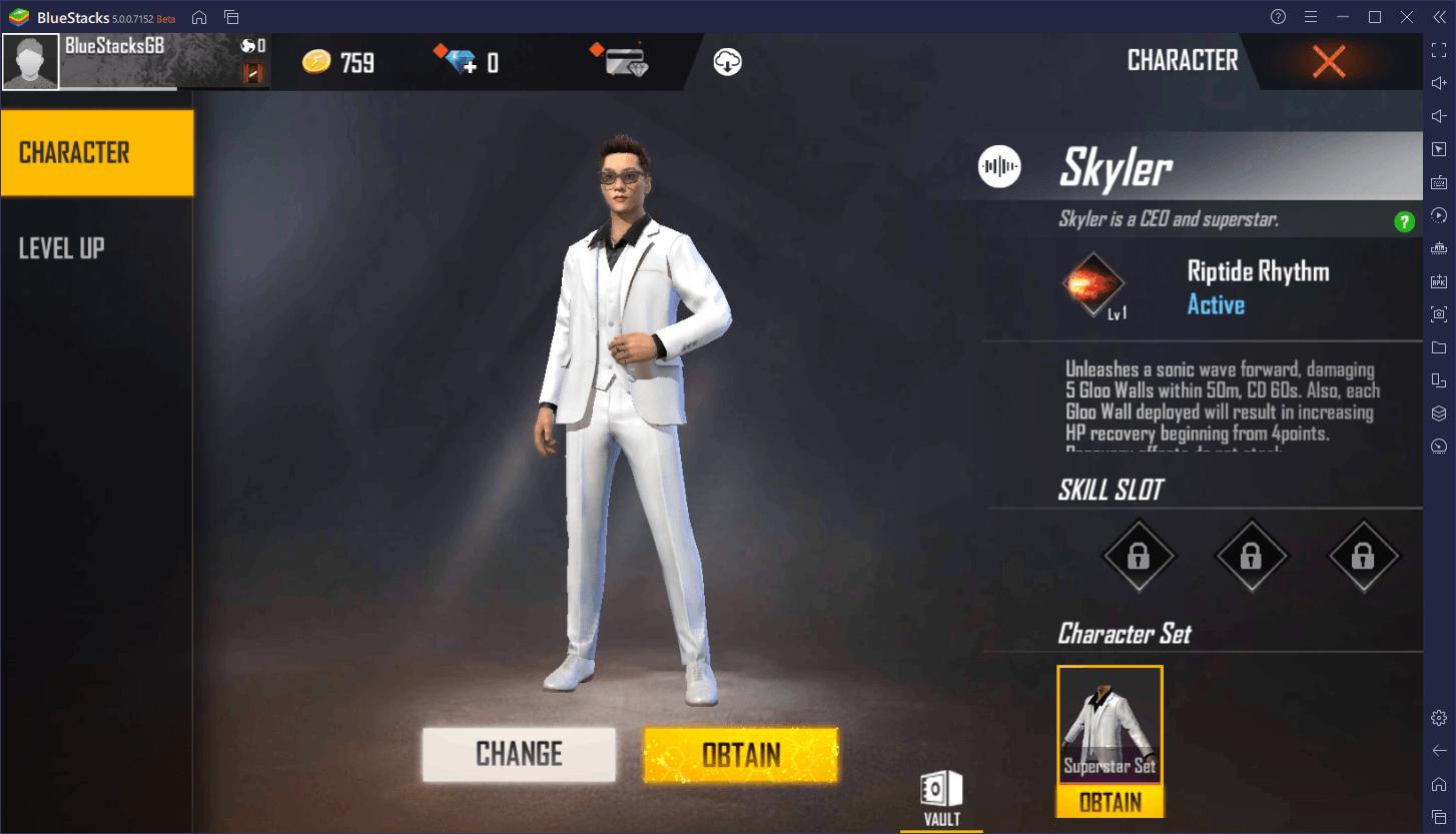 Skyler FF Garena Characters and How to Get Them ||  Flashtik.com
