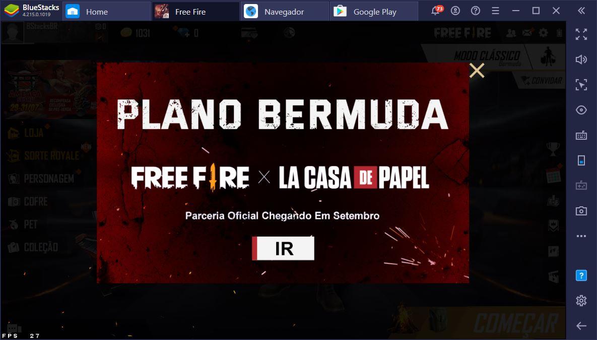 """Novidades da Atualização do Garena Free Fire 3VOLUÇÃO: Colab com """"La Casa de Papel"""", Novos Personagens e Muito Mais!"""