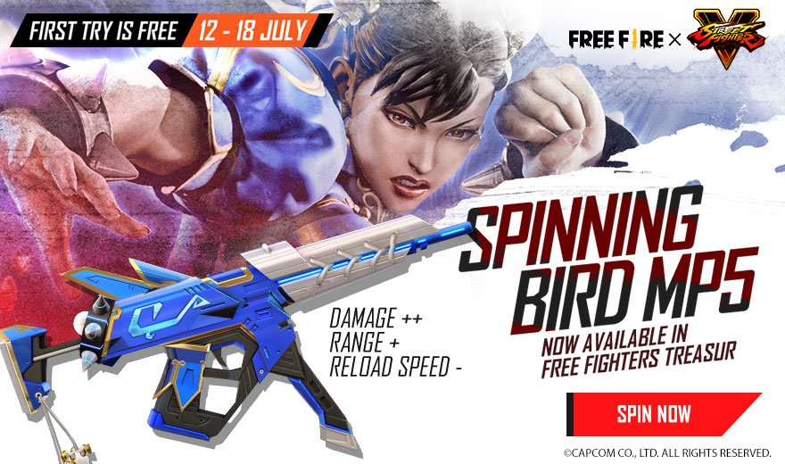 Free Fire announce Street Fighter V Collaboration Event