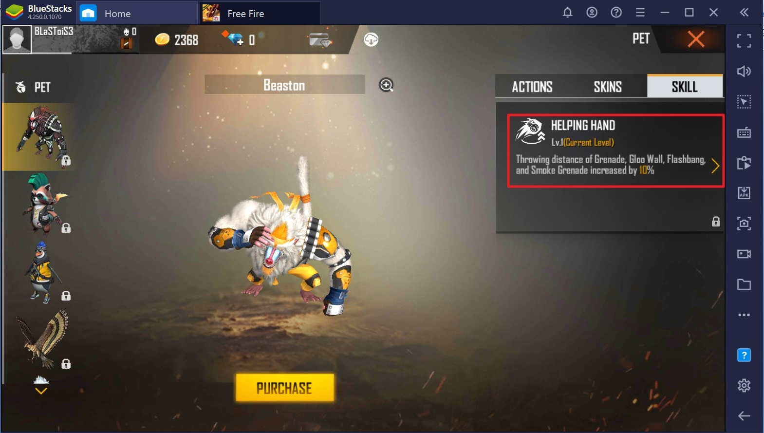 The New Pet 'Beaston' is Now Available in Free Fire – Full Details Inside