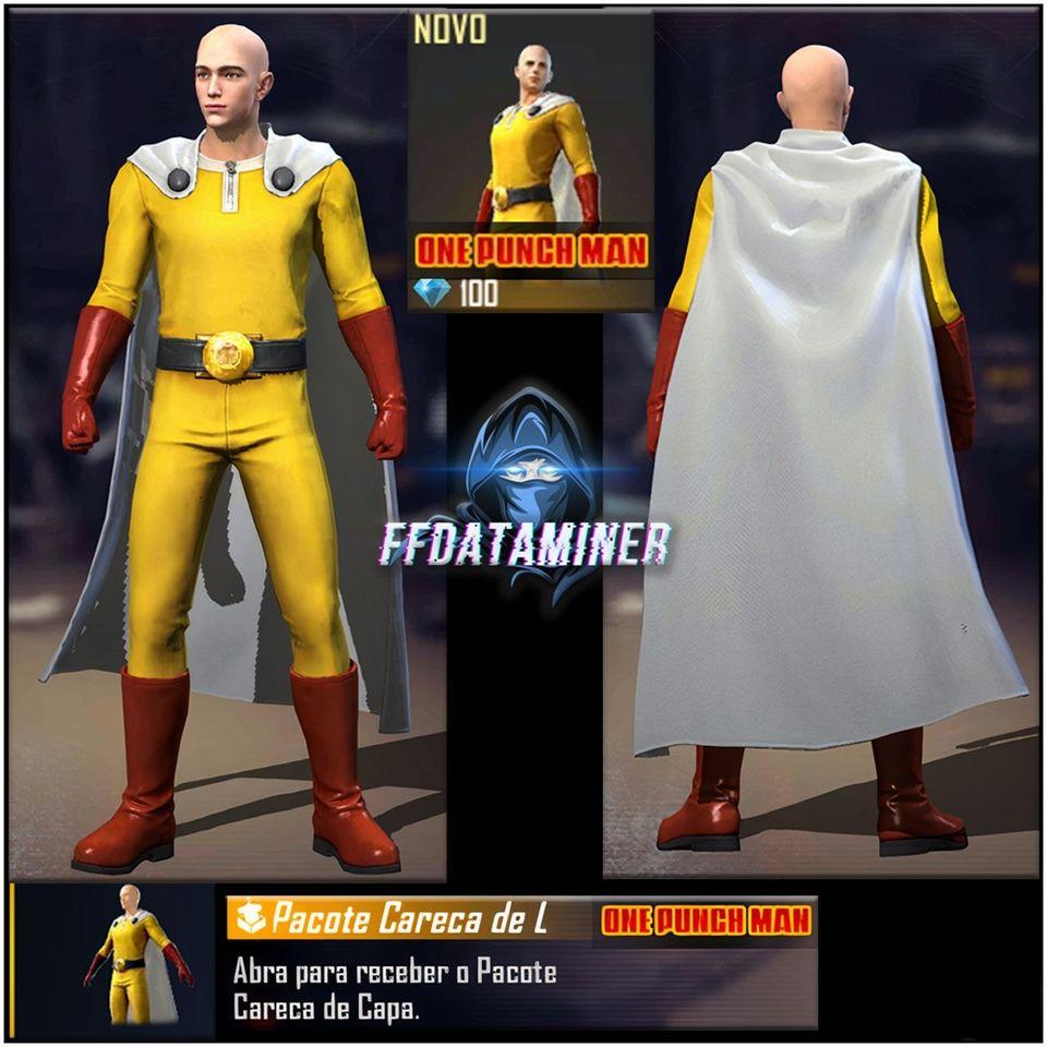 В сеть утекли скриншоты героев One Punch Man для Free Fire. Нас ждет коллаборация?