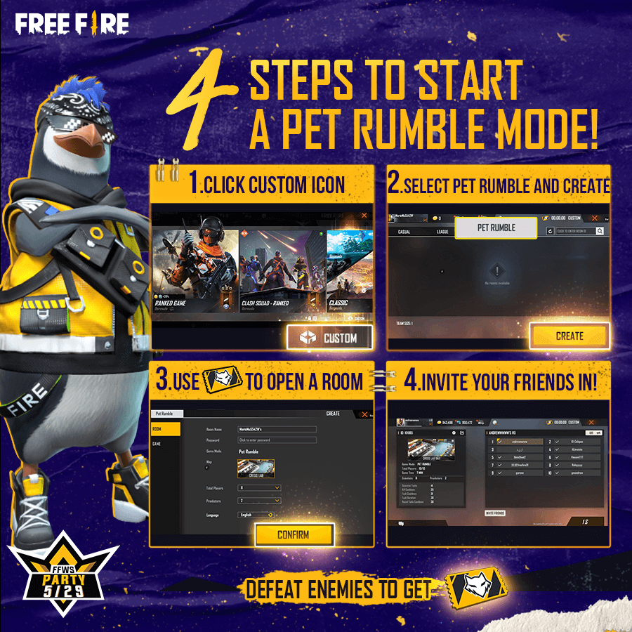 Free Fire Releases Among Us Styled Game Mode Called Pet Rumble