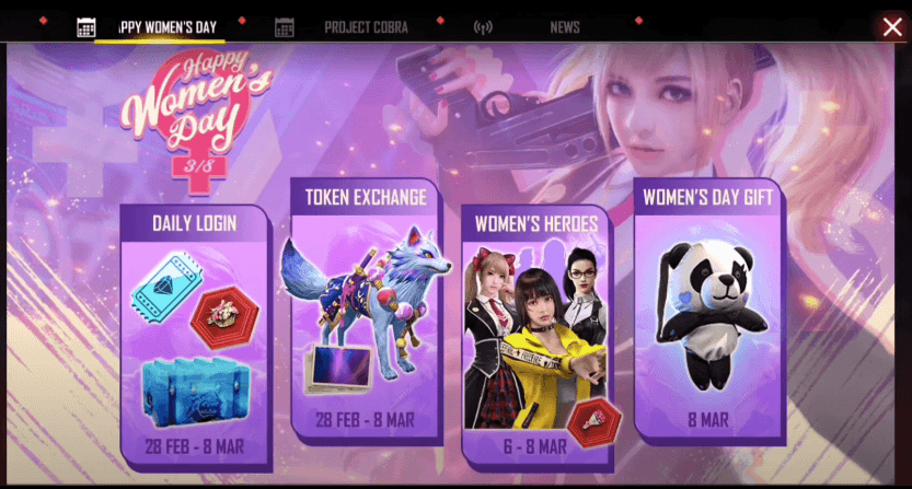 Garena Free Fire Celebrates International Women's Day with Special Event