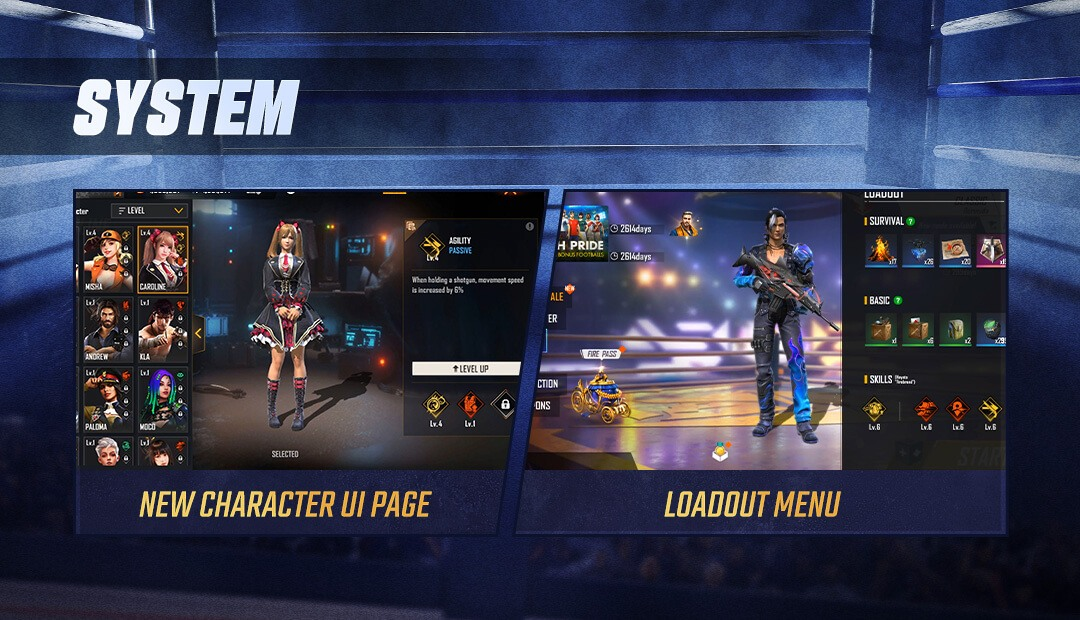 Free Fire Releases Maro and Xayne as New Characters in World Series Patch Update