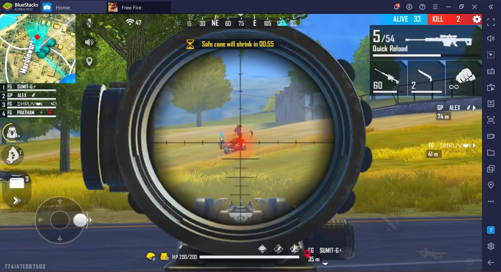 A Complete Guide for Wanna be Snipers of Garena Free Fire, Learn Your Place