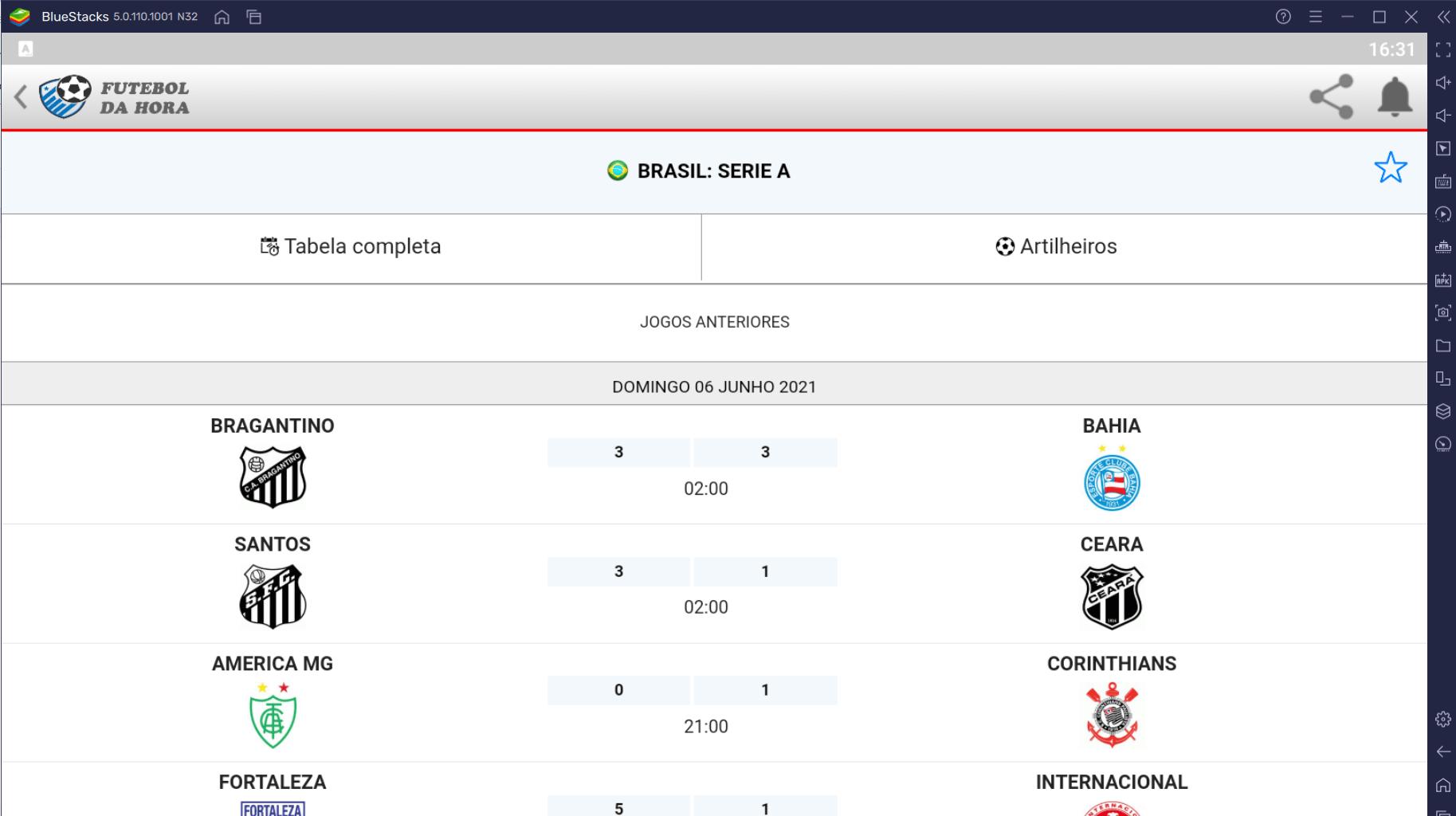 Como Usar o App Futebol da Hora no PC com BlueStacks