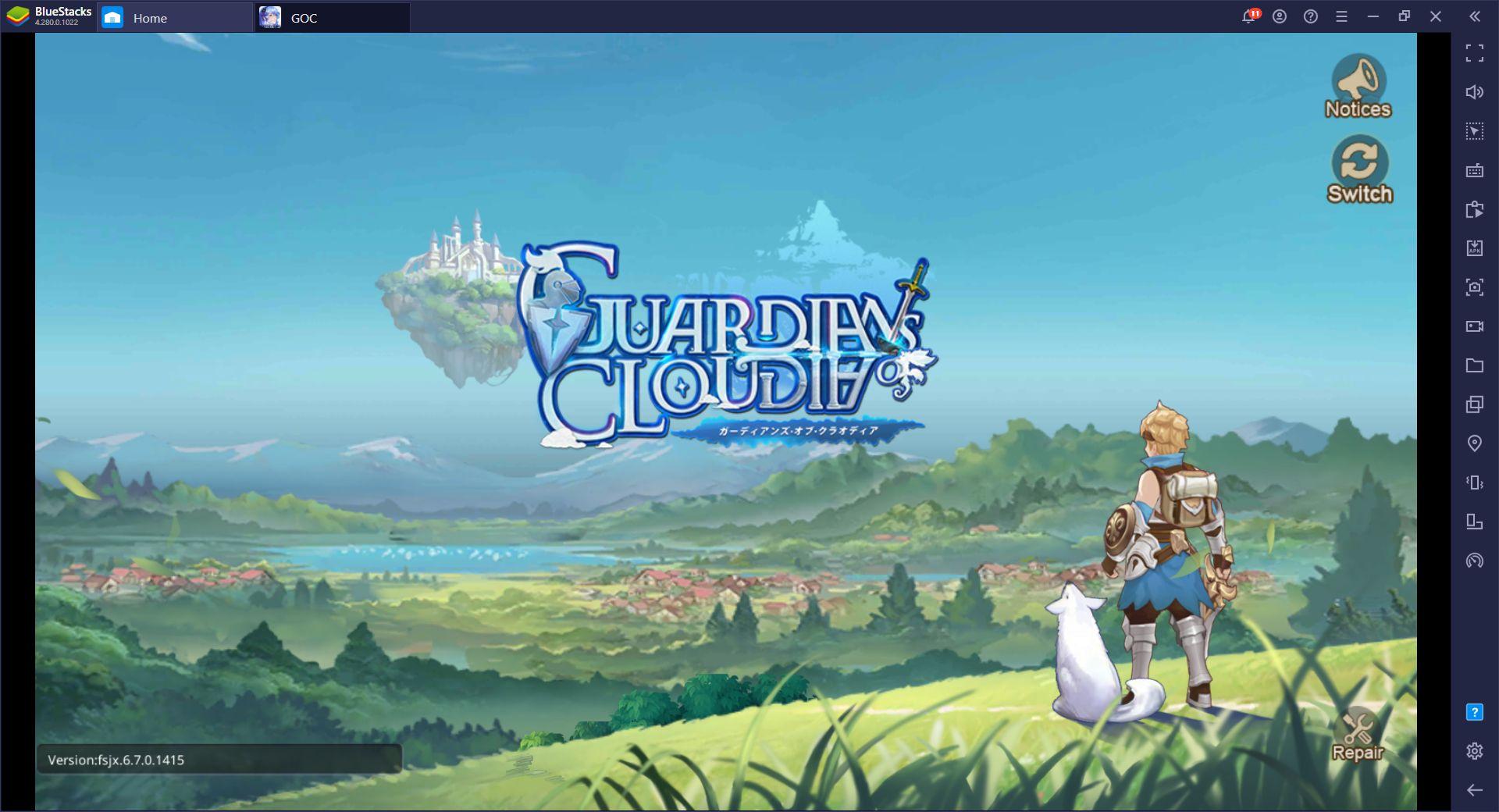 BlueStacks ile Bilgisayarınızda Guardians of Cloudia Oynayın
