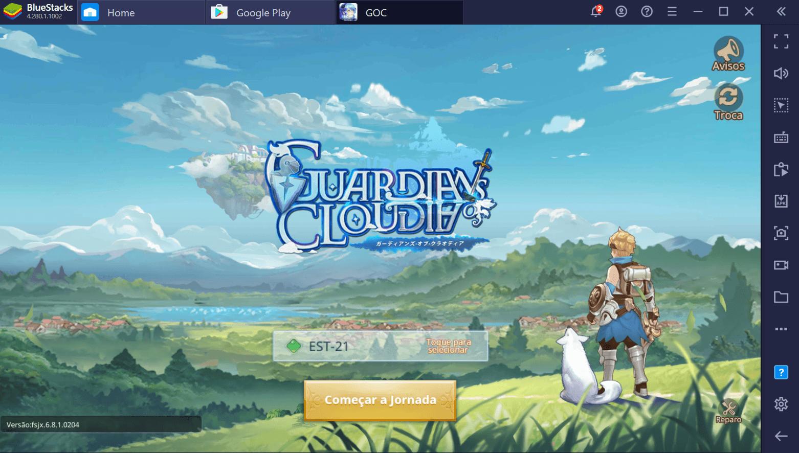 Como Instalar e Jogar Guardians of Cloudia no PC