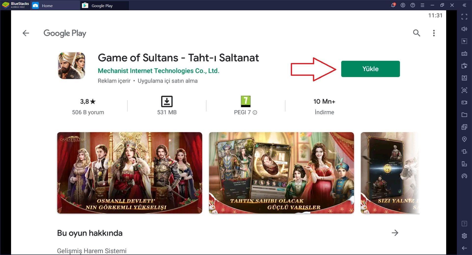 Game of Sultans Oyununu Bilgisayarda Oynayın