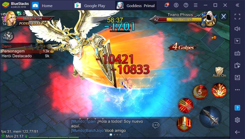 Aprenda a jogar Goddess: Primal Chaos no PC usando o BlueStacks