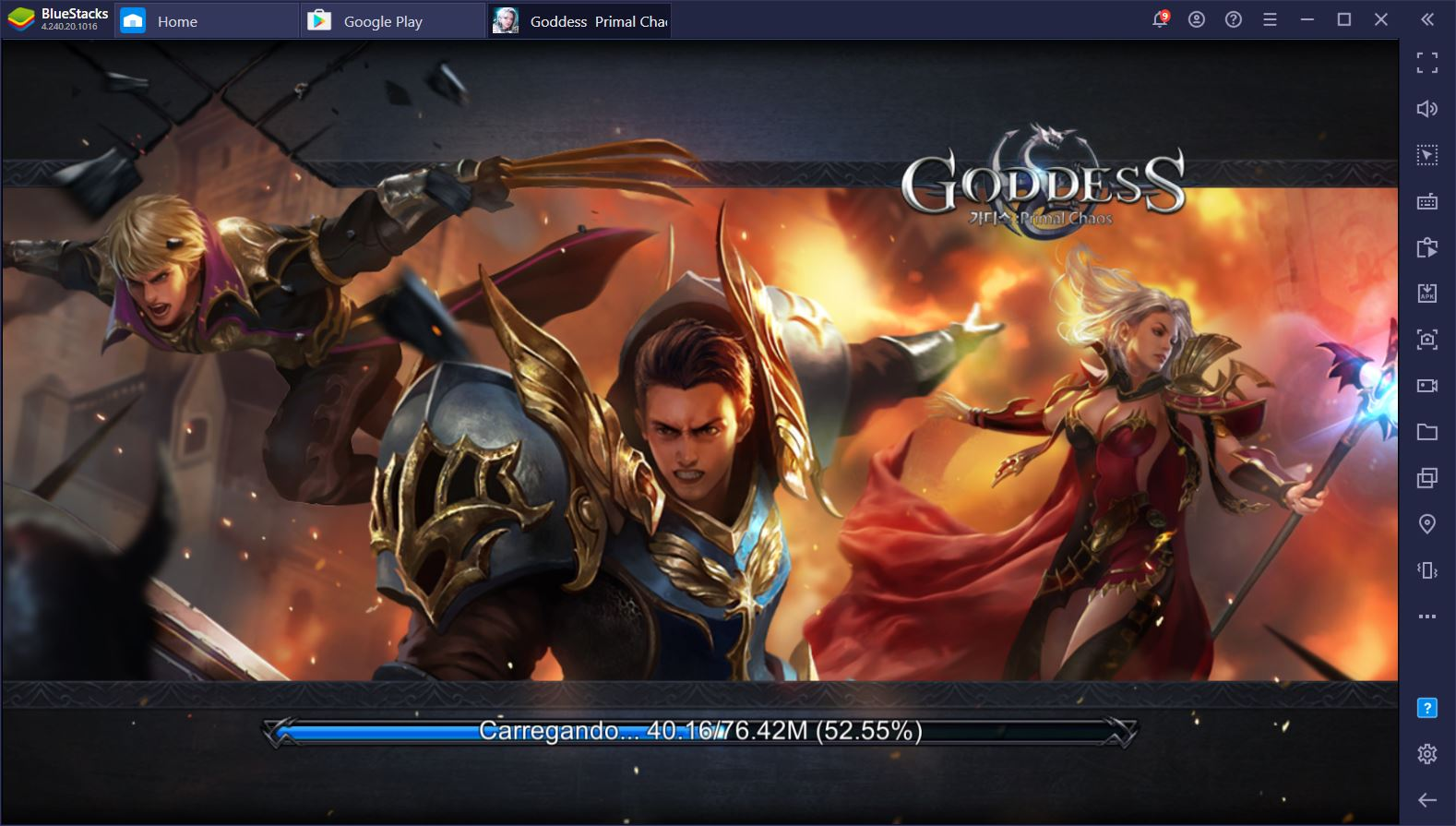 Como funcionam os heróis e as classes de personagens no Goddess: Primal Chaos