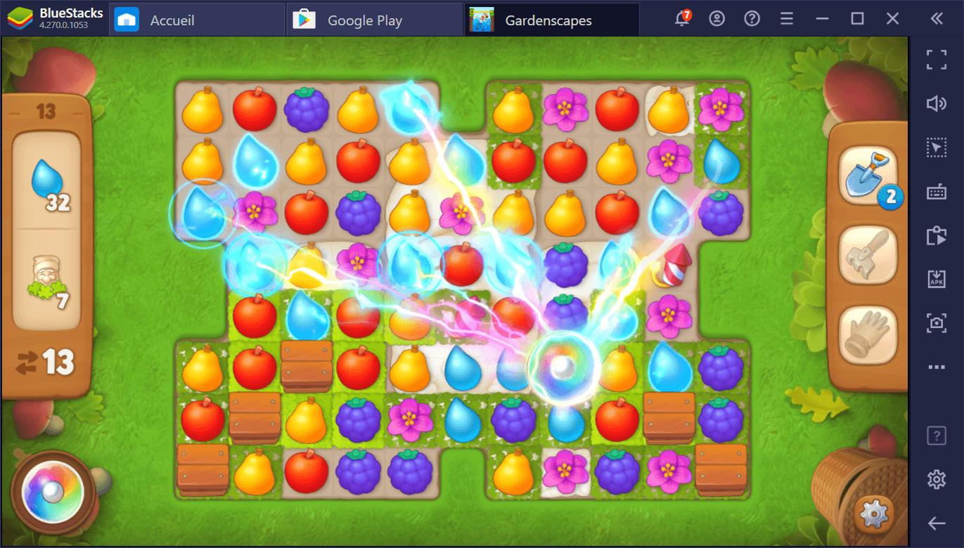 Gardenscapes – Guide sur les interactions avancées