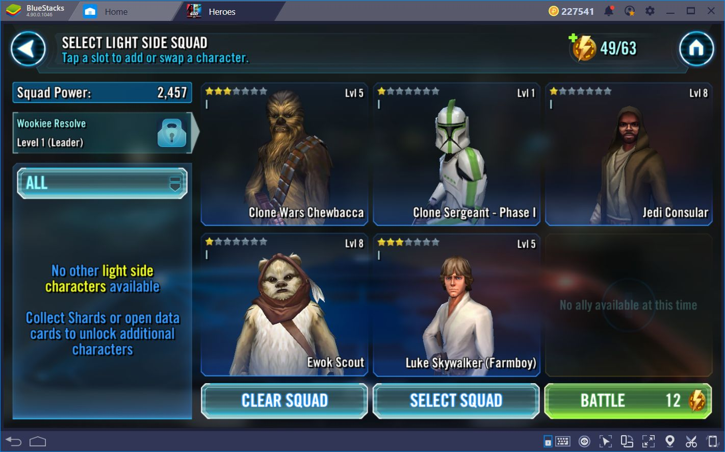 How to Level Up Fast in Star Wars: Galaxy of Heroes