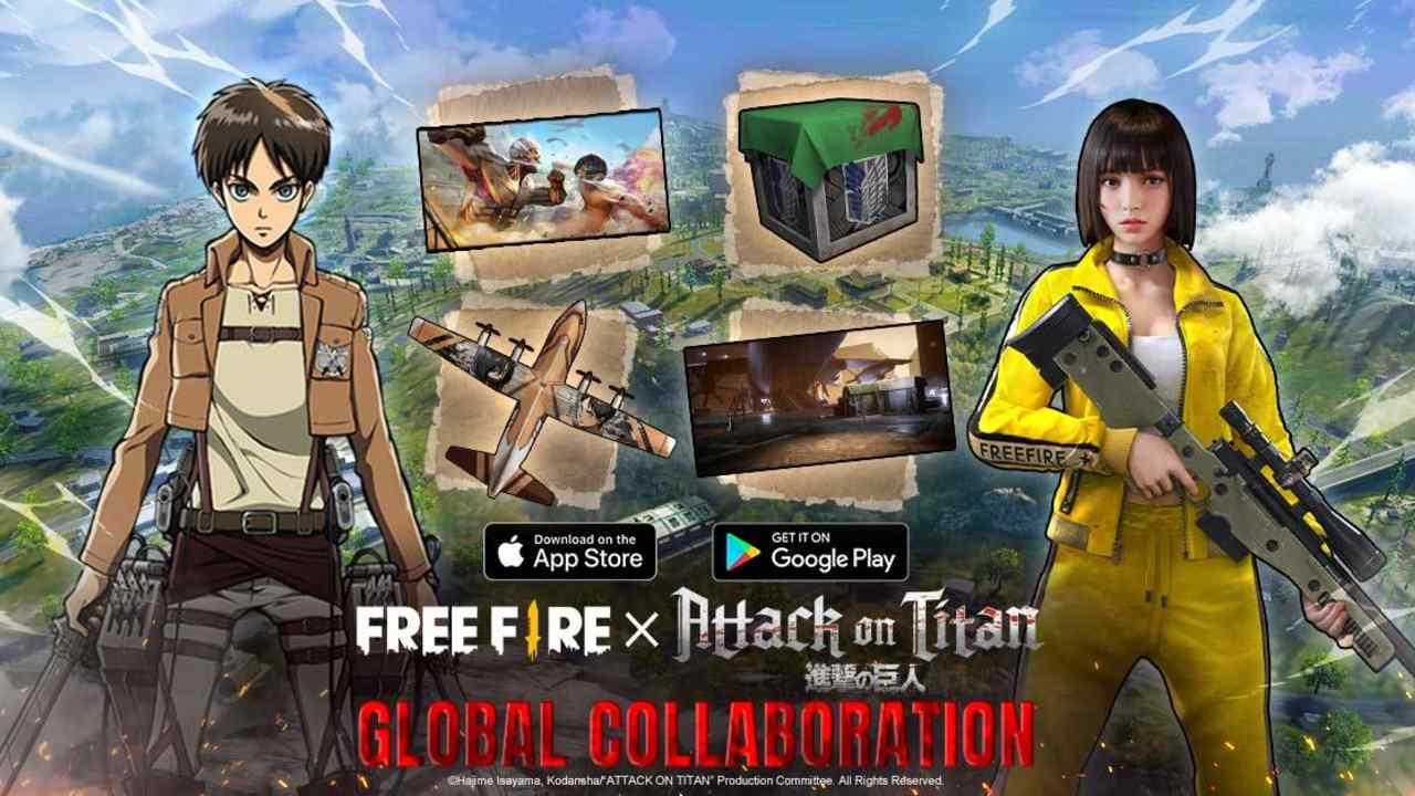Garena Free Fire x Attack on Titan Crossover Event is Now Live