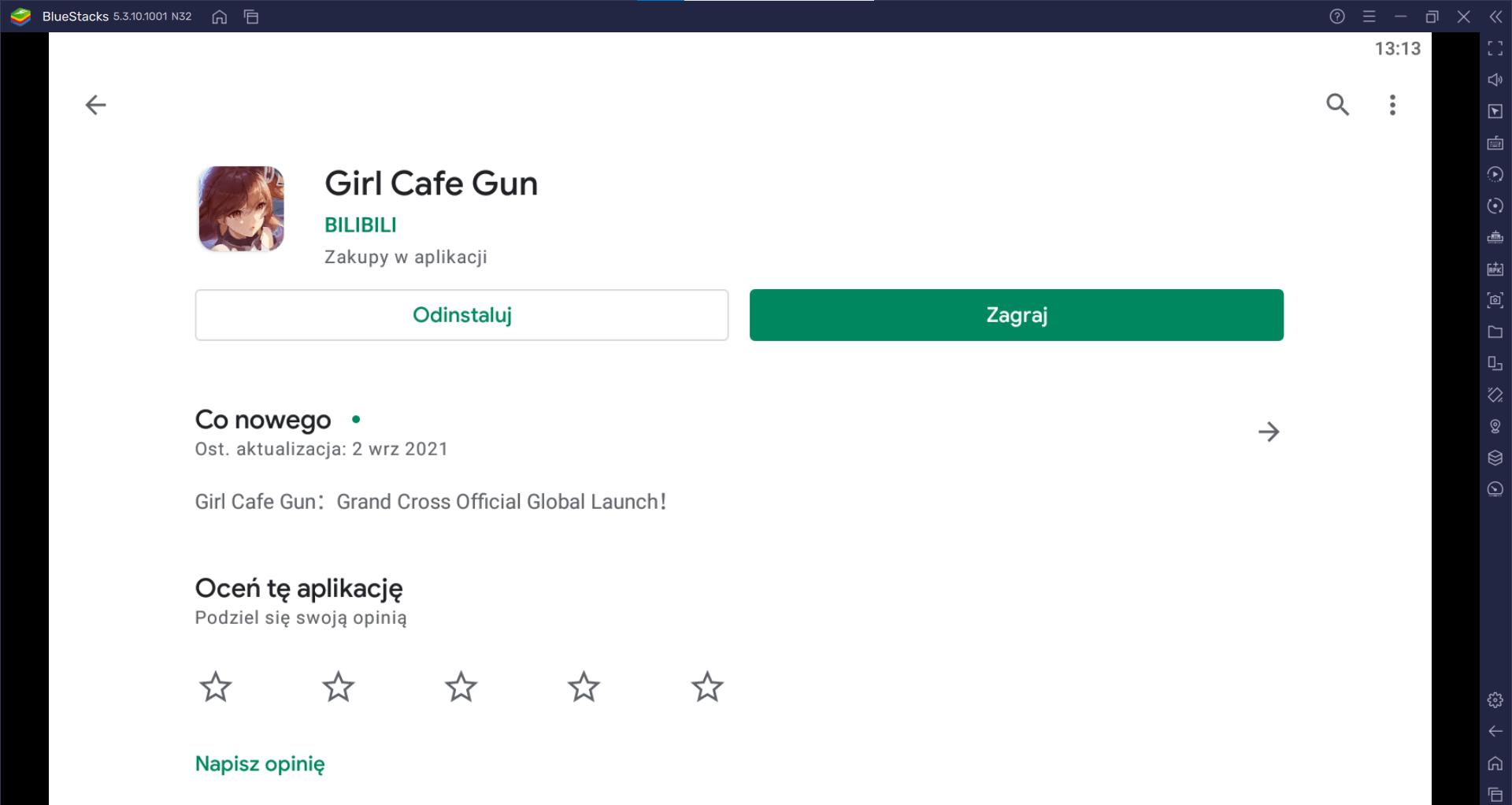 Girl Cafe Gun reroll zamiana postaci