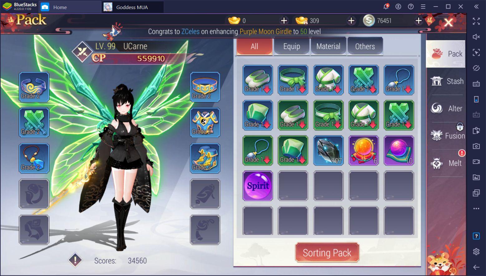 Goddess MUA – Beginner's Guide for Upgrading Your Goddess and Character
