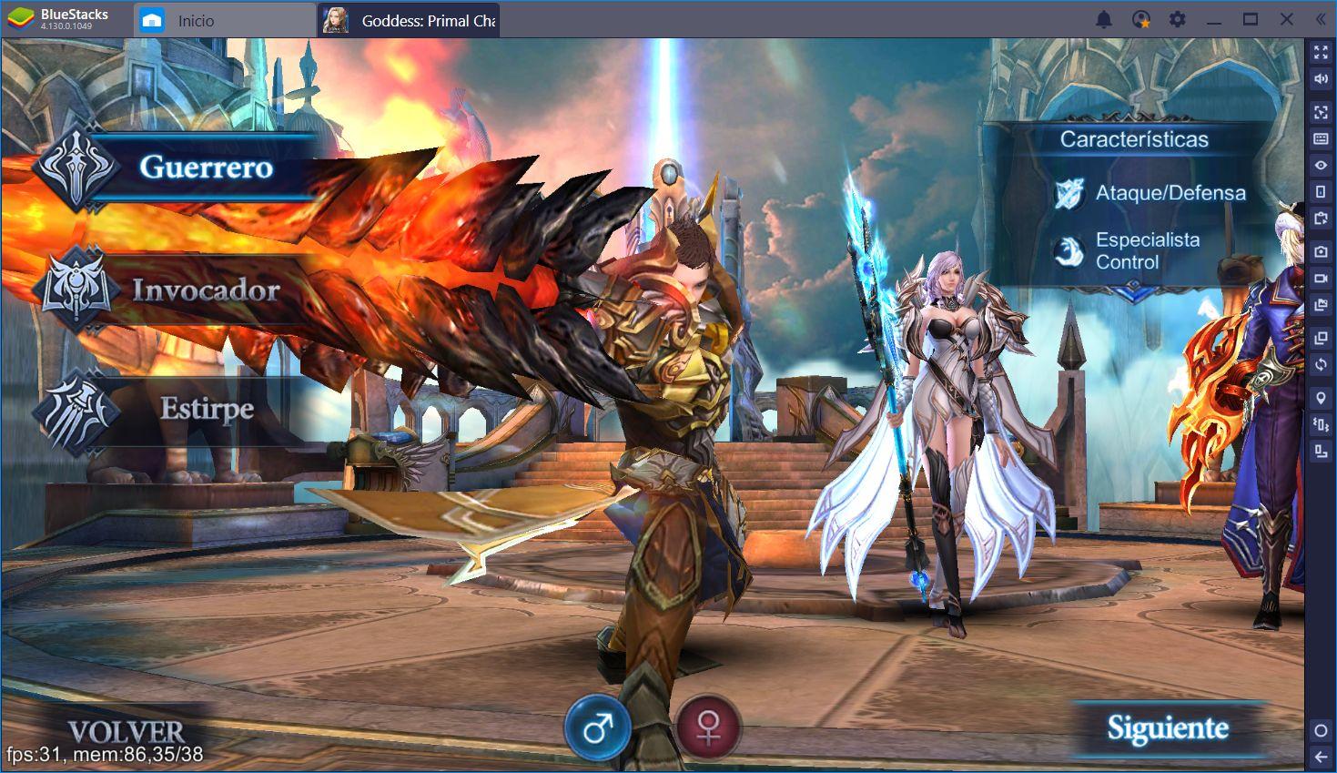 Goddess Primal Chaos: Diversión de ARPG Clásica
