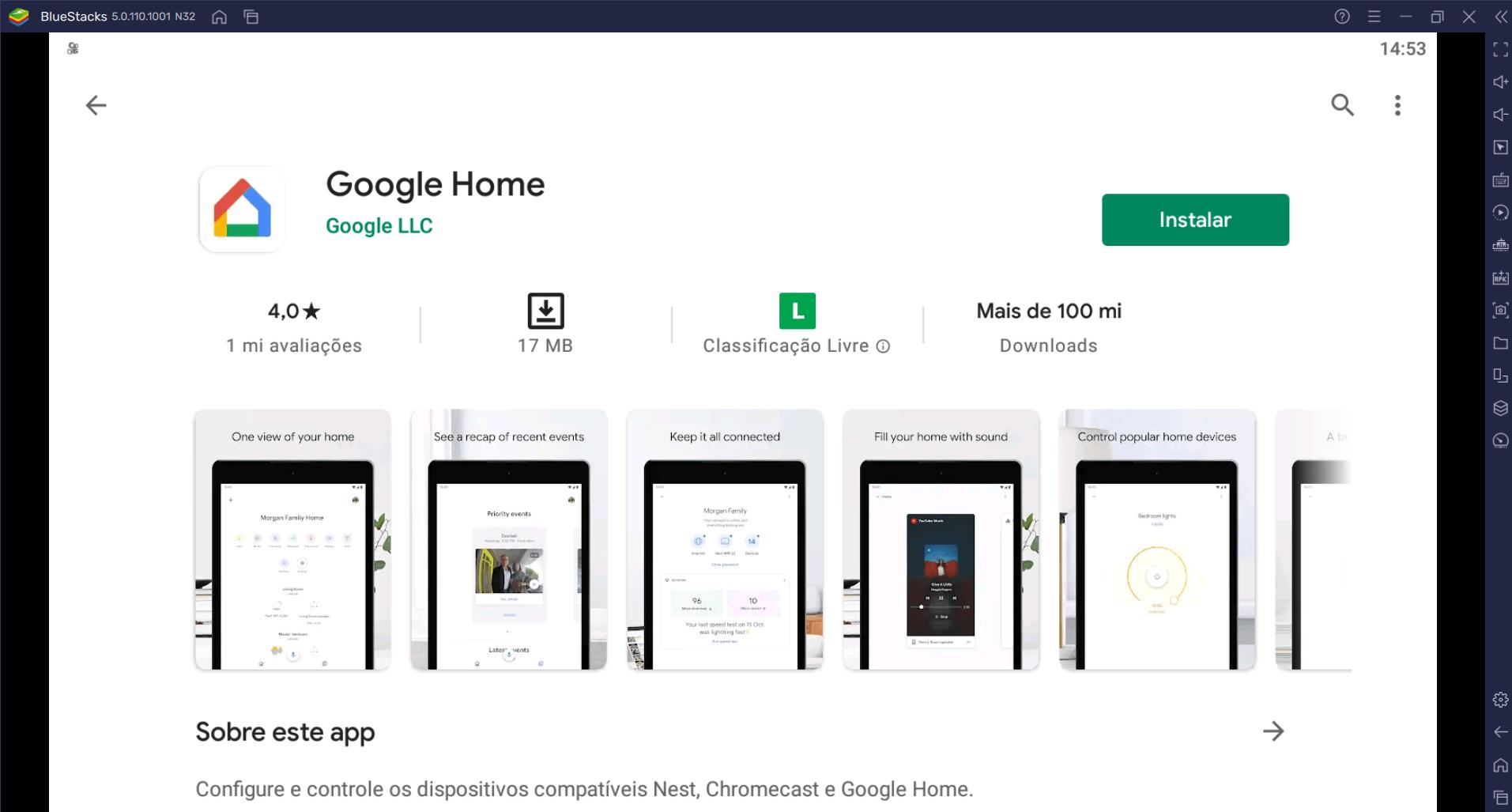 Como Baixar e Instalar o app Google Home no PC com BlueStacks