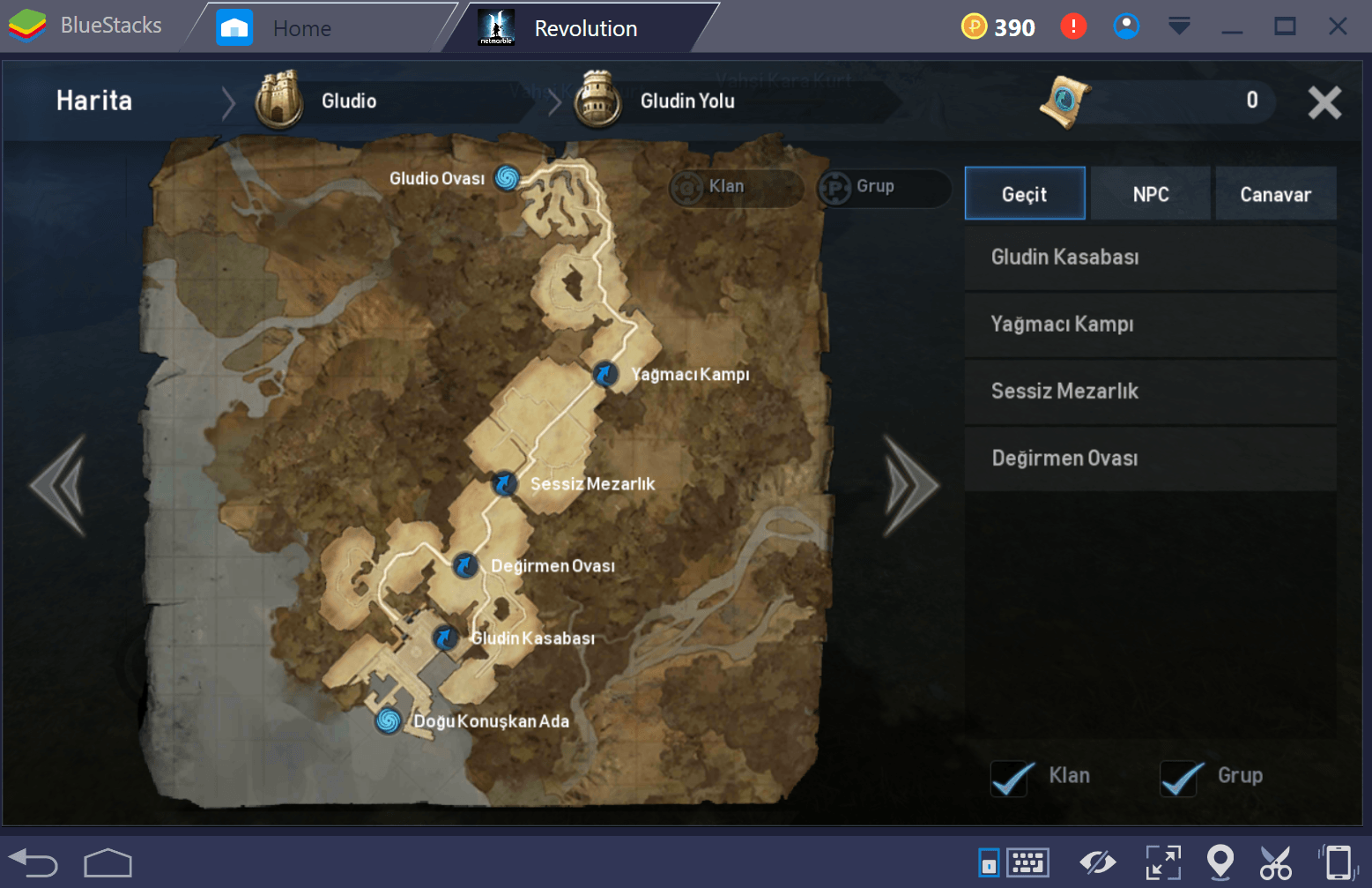 Lineage 2 Grinding Route Tr