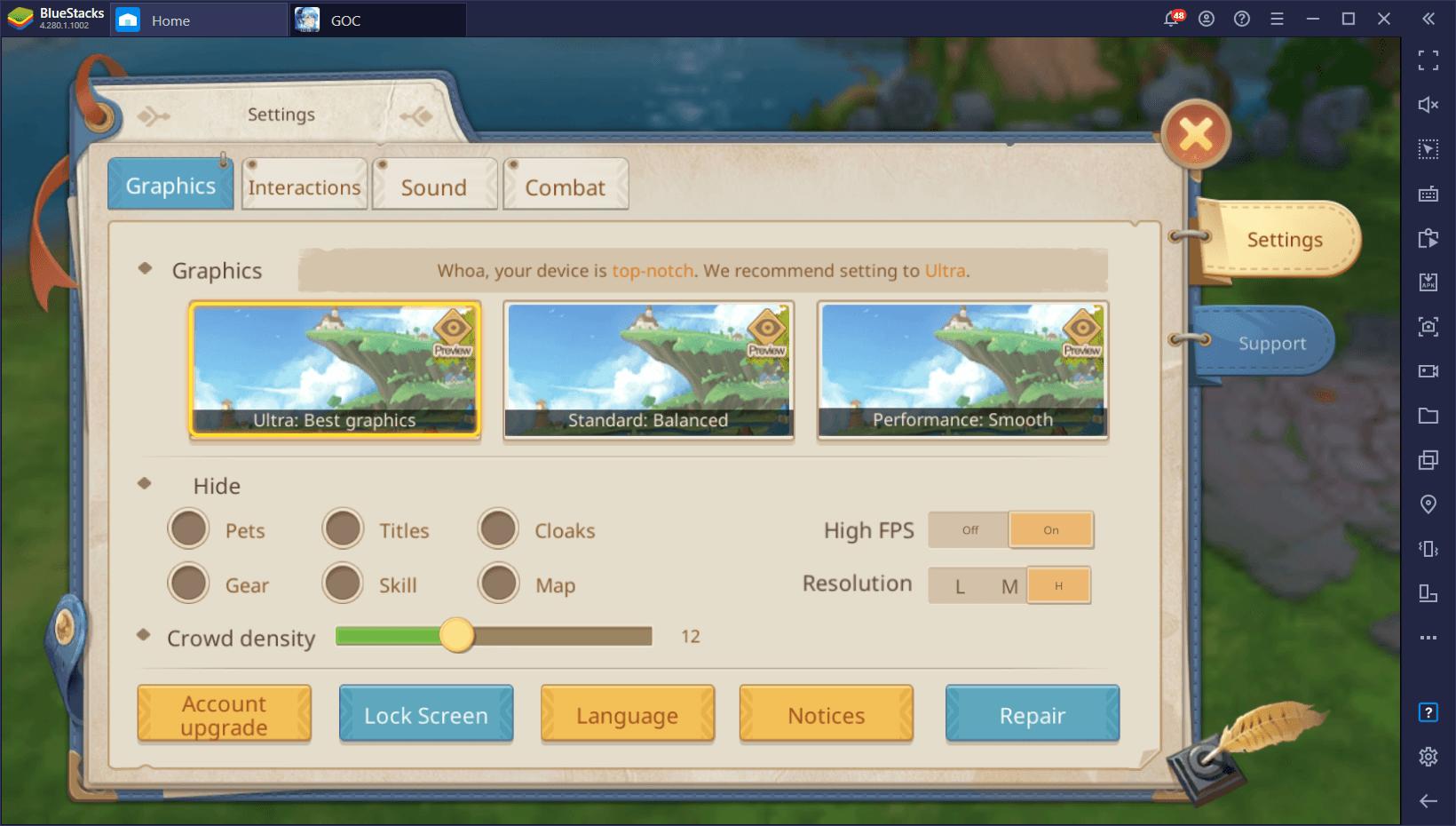لعبة Guardians of Cloudia  – كيفية استخدام أدوات محاكي BlueStacks لصالحك في لعبة لعب الأدوار و متعددة اللاعبين على الإنترنت (MMORPG ) باستخدام الهاتف