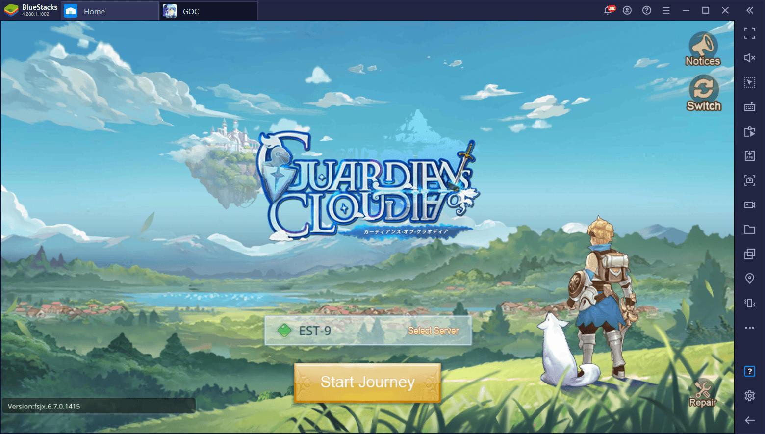 كيفية تحميل ولعب لعبة Guardians of Cloudia على جهاز الكمبيوتر