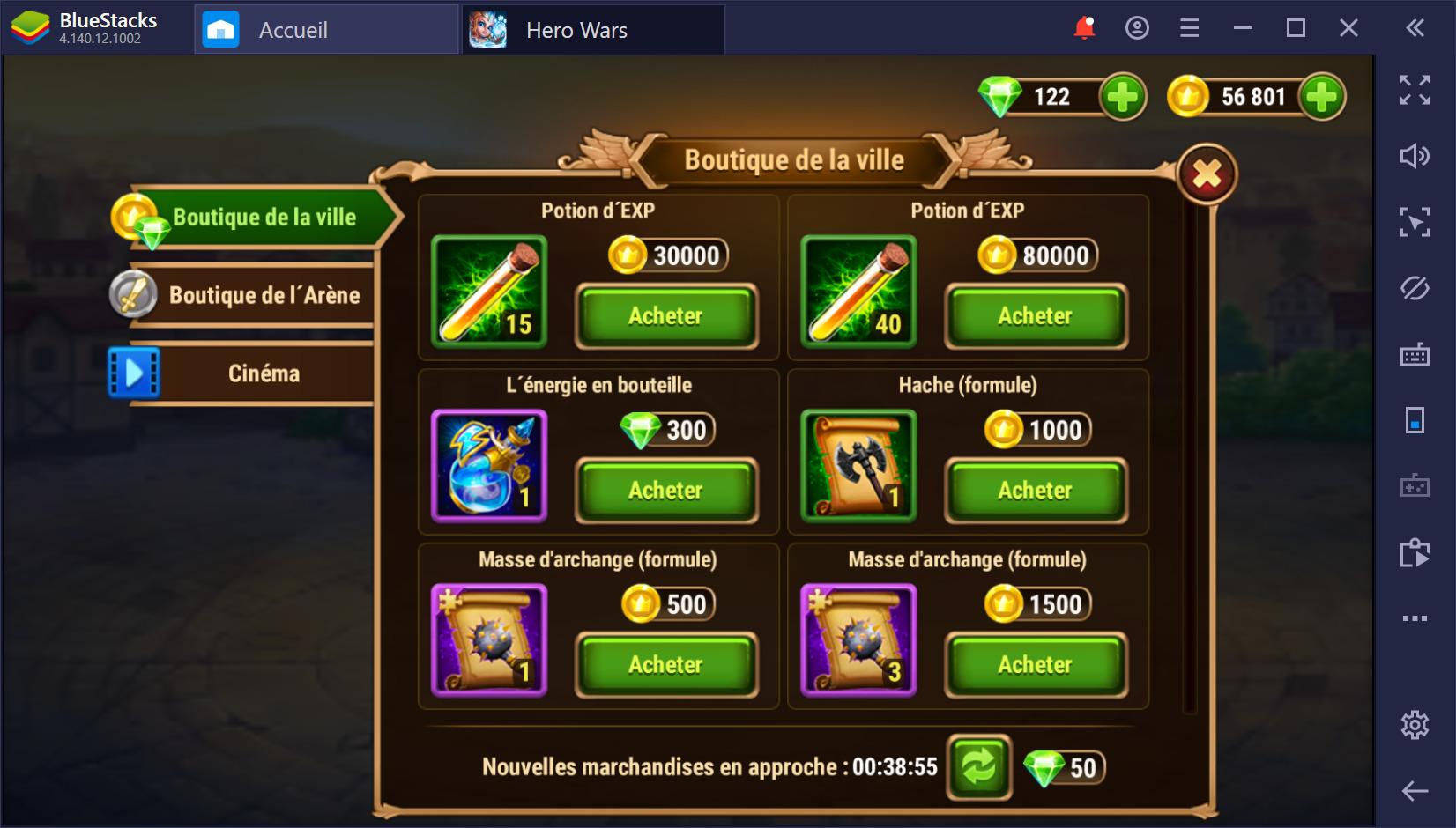 Guide BlueStacks sur le farming dans Hero Wars sur PC