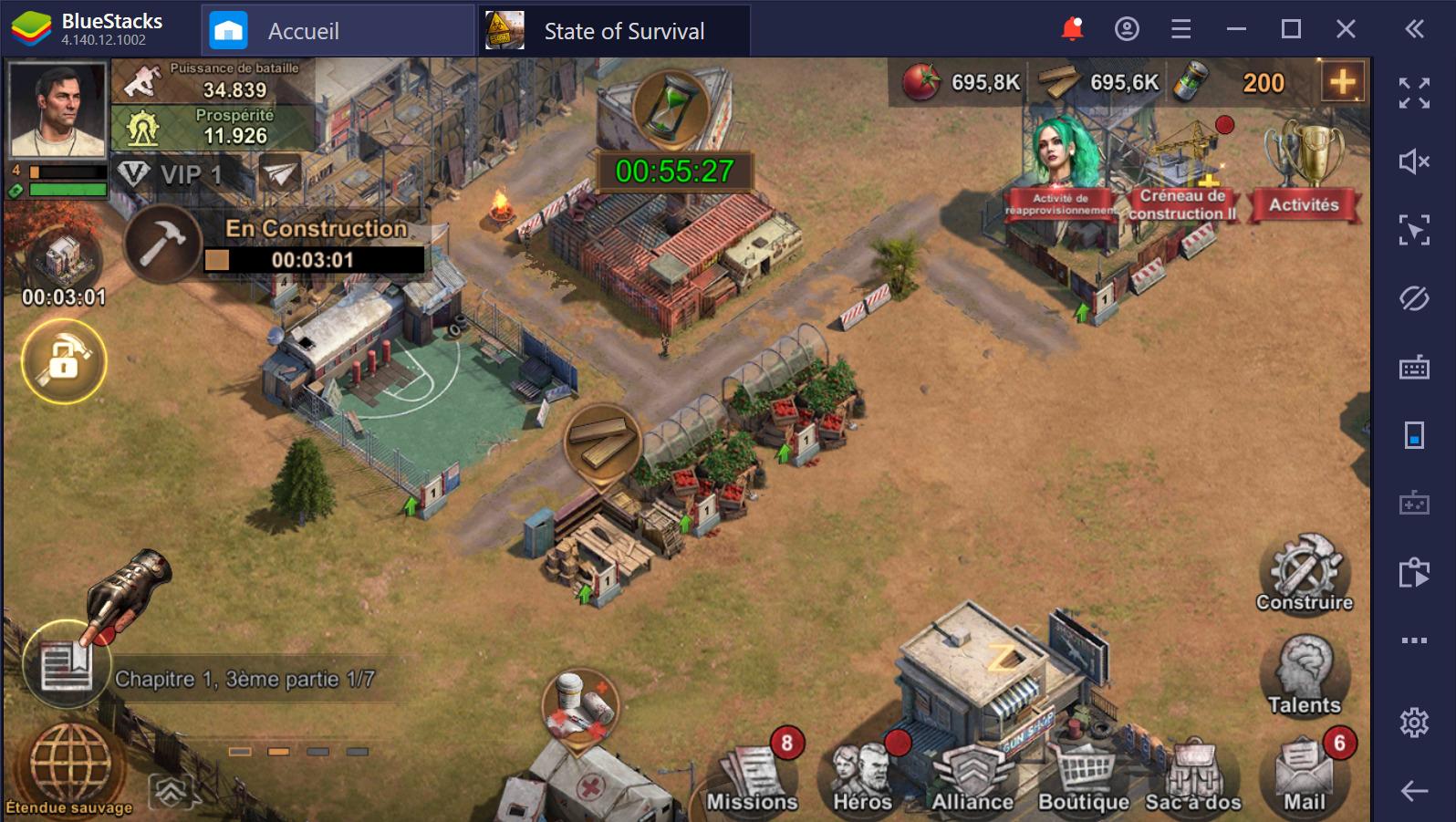 Guide de débutant pour State of Survival sur PC