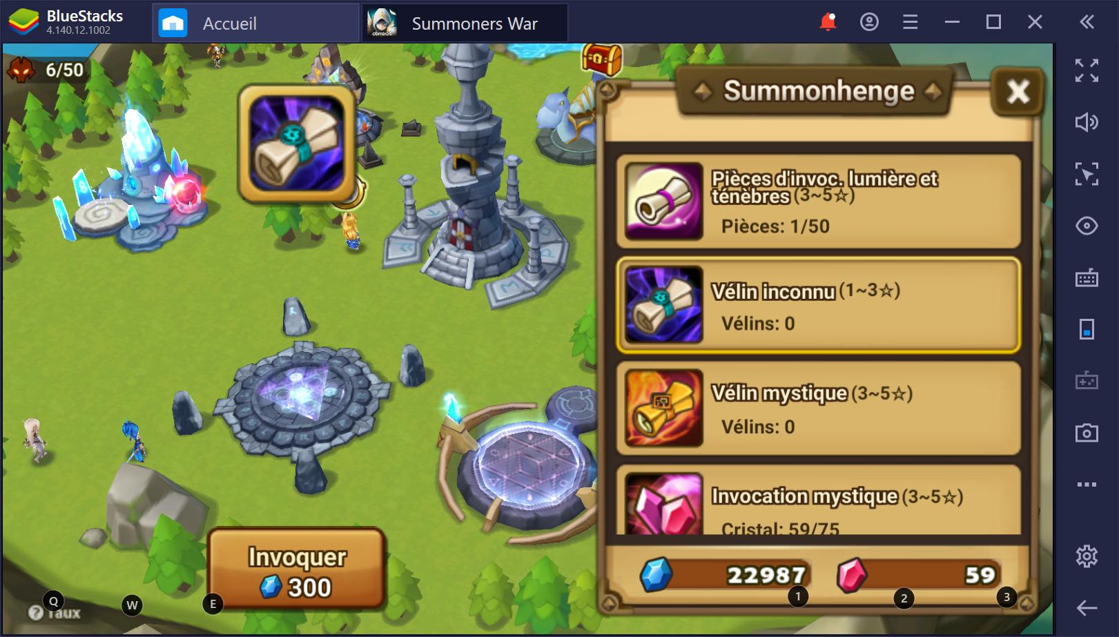 Guide pour débutants sur Summoners War