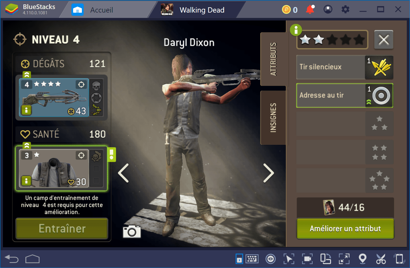 Guide sur les attributs dans Walking Dead No Man's Land
