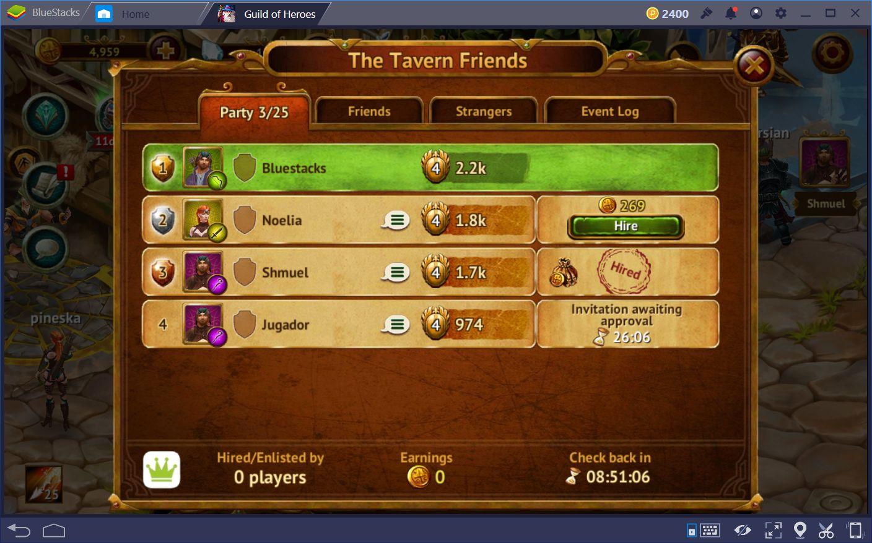 Guild of Heroes – Wie man die Taverne benutzt