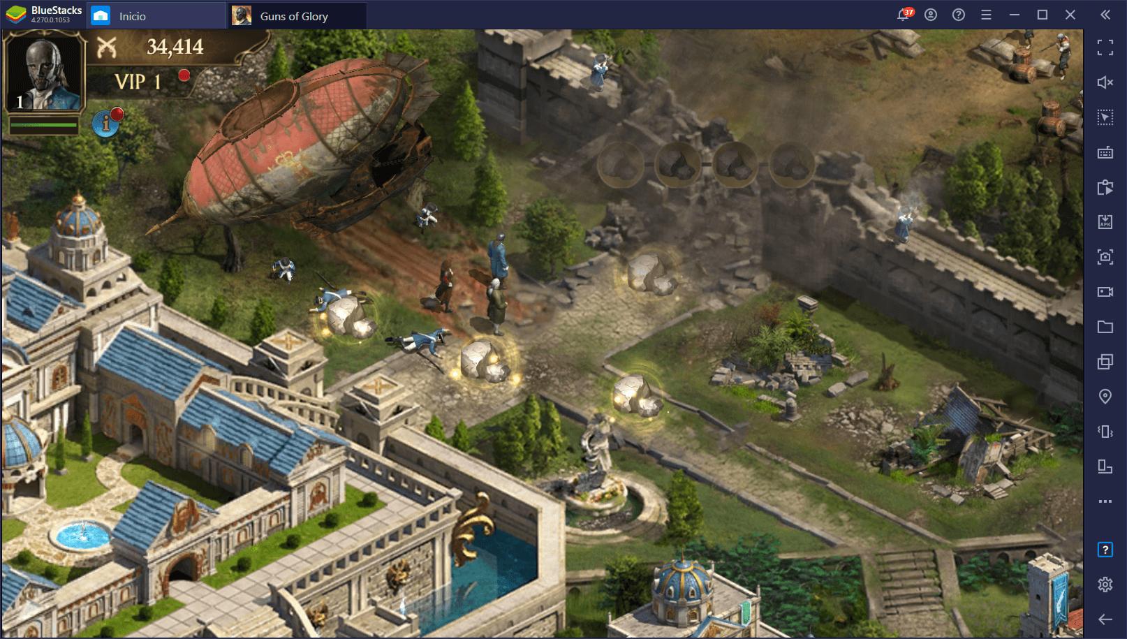 Cómo Instalar y Jugar Guns of Glory en PC con BlueStacks