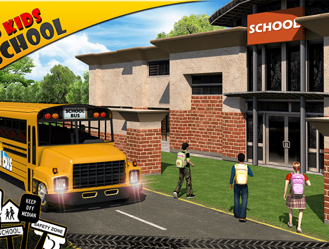 Play School bus Driver 3D on PC 13