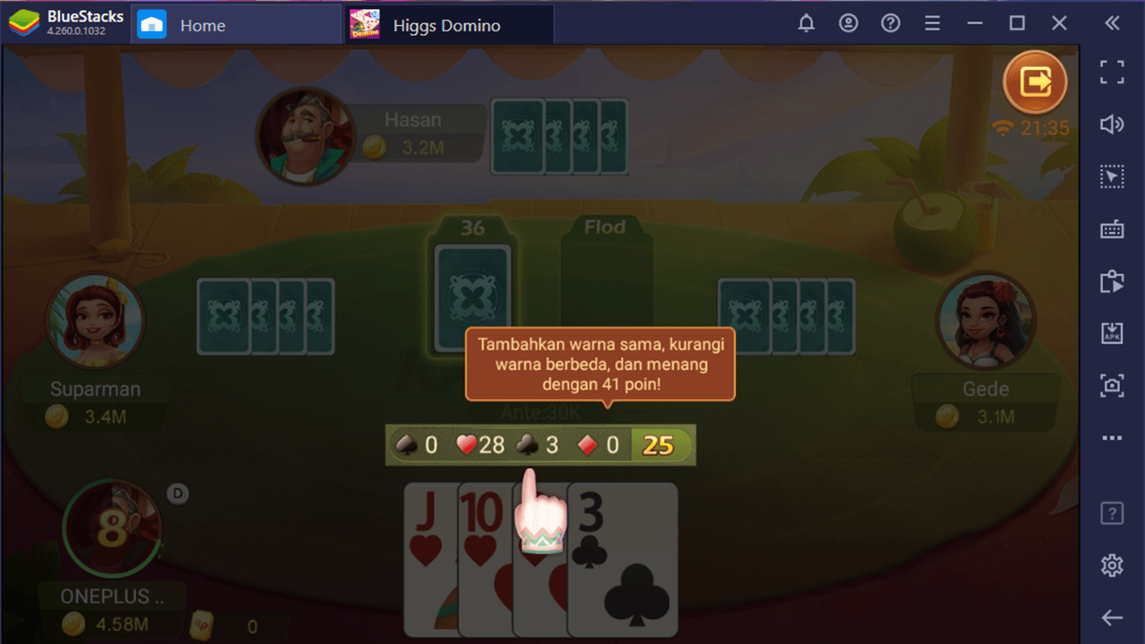 Pengenalan Permainan Kartu 41 di Higgs Domino Island