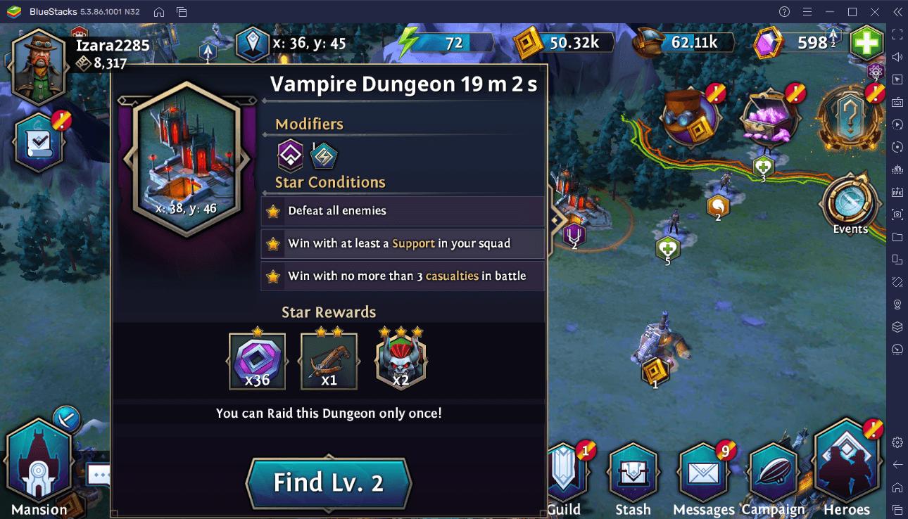 Le Guide Complet de la Campagne et de la Carte dans Heroes of the Dark