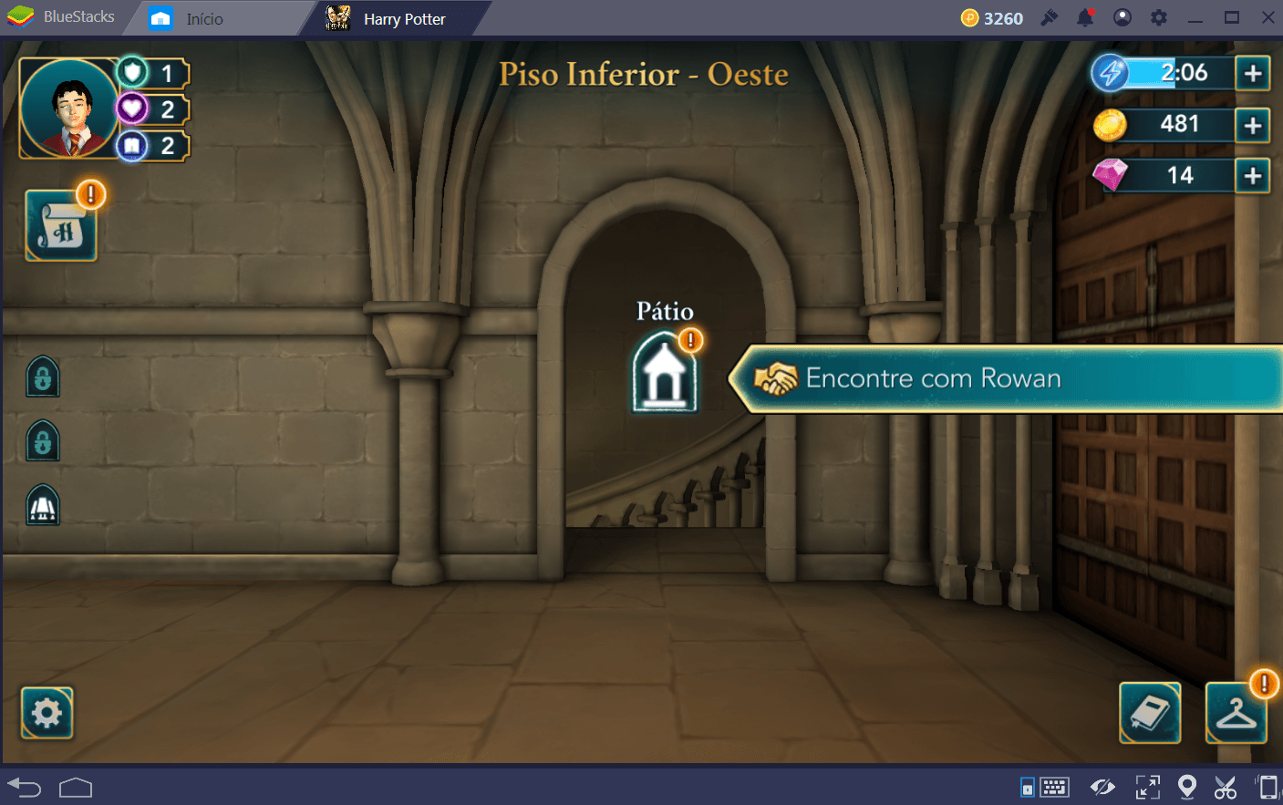 Guia de energia em Harry Potter: Hogwarts Mystery