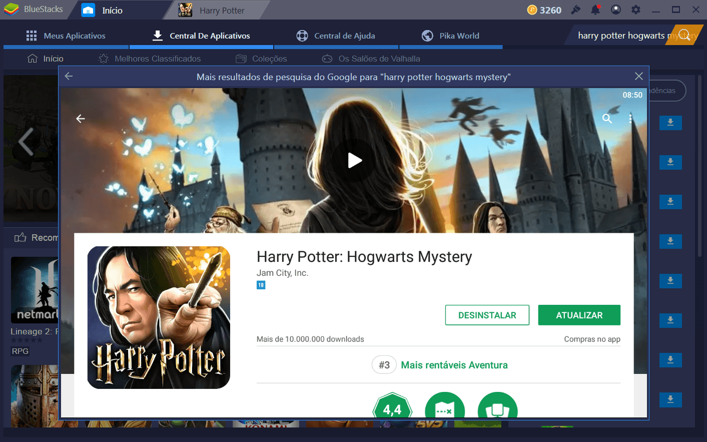 Como instalar Harry Potter: Hogwarts Mystery no Bluestacks