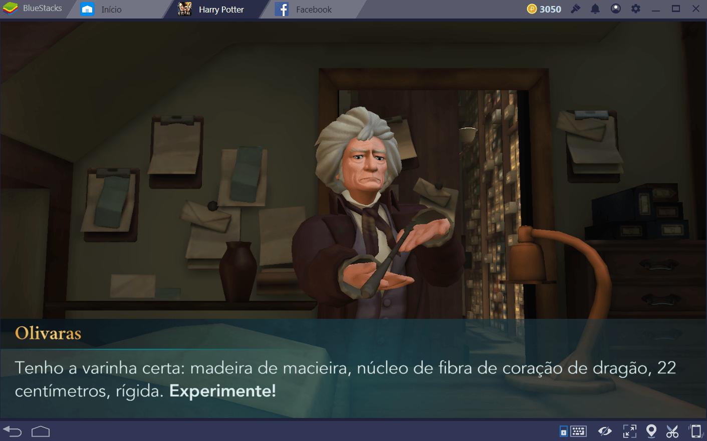 Guia de varinhas em Harry Potter: Hogwarts Mystery