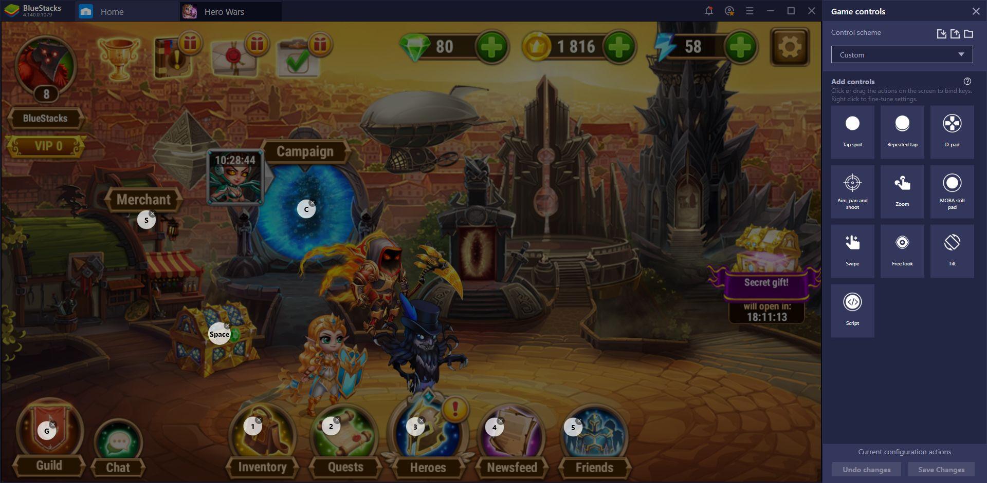 BlueStacks Guide for Hero Wars