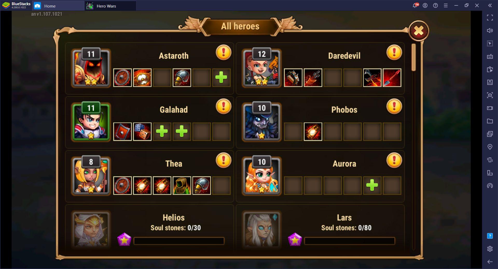 BlueStacks ile Hero Wars Oynayın, Avantaj Sizde Olsun
