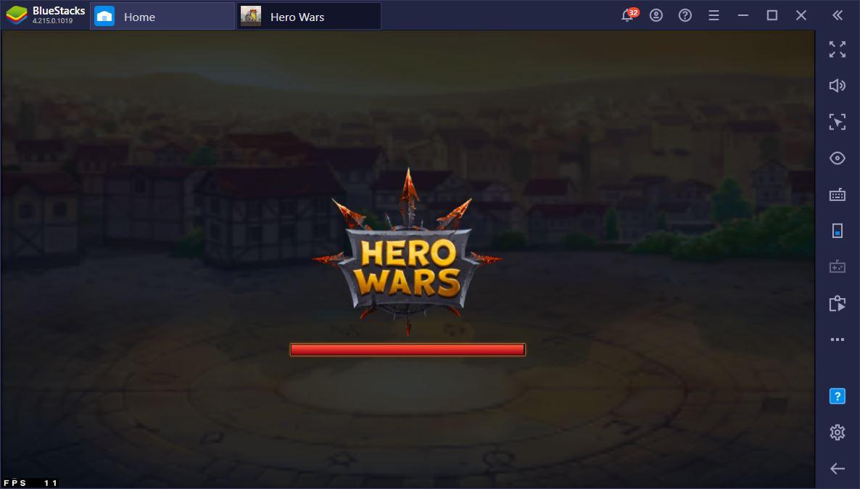 Como fazer Reroll no Hero Wars usando o BlueStacks?