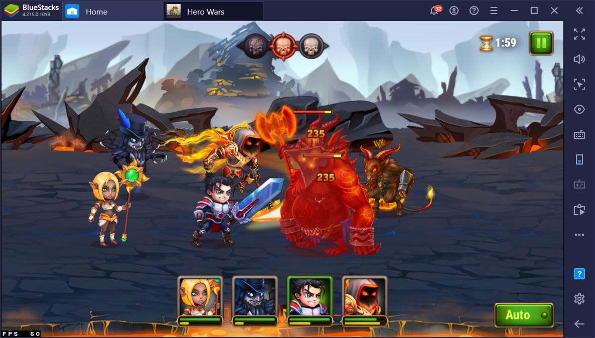 Como fazer Reroll no Hero Wars usando o BlueStacks?