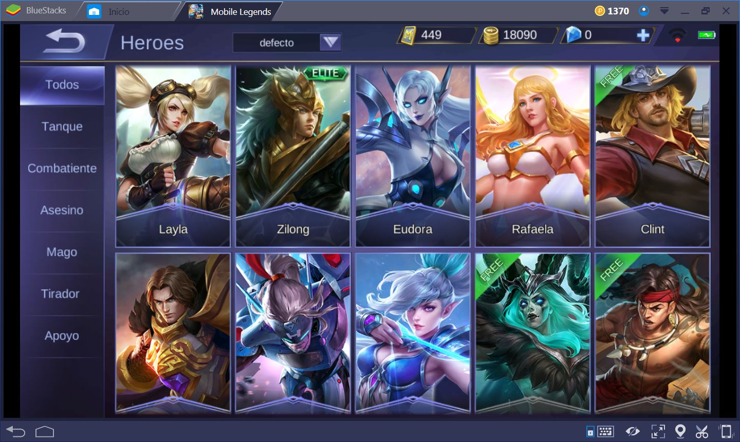 Mobile Legends Heroes Es